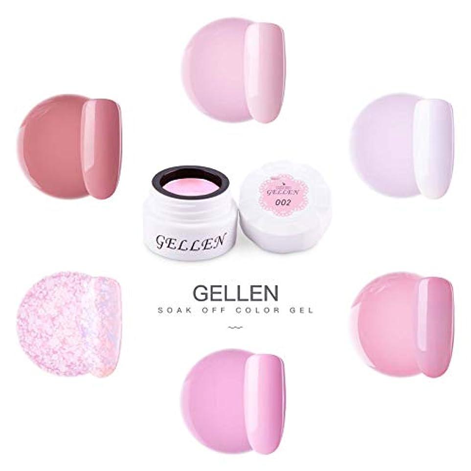 ふざけた投げるアリスGellen カラージェル 6色 セット[ライトピンク系]高品質 5g ジェルネイル カラー ネイルブラシ付き