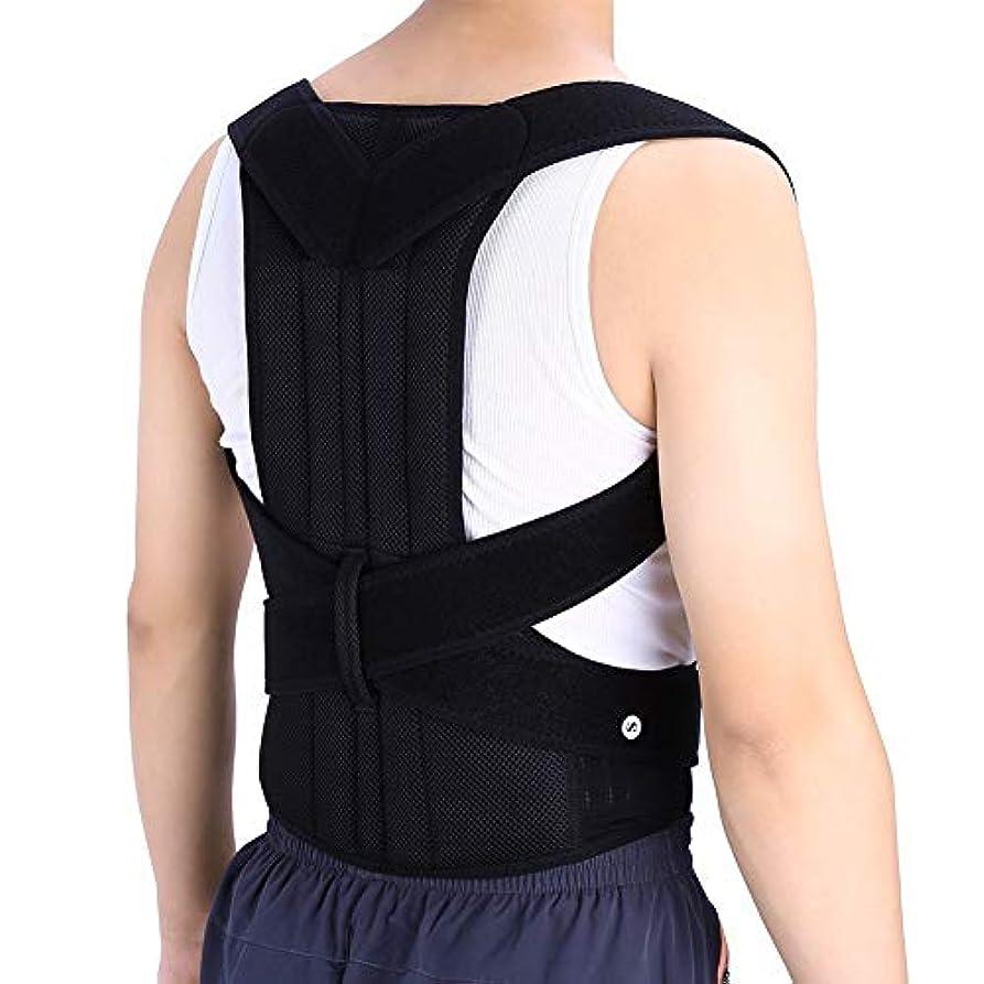 PINKKING まっすぐな背部プロテクターの背部補強のための背部矯正器サポートと腰痛の軽減 ? (M)
