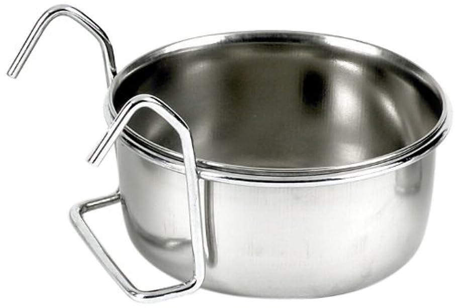 (クラッシック) Classic ペット用 クープカップ ワイヤーハンガー付き エサ入れ 水入れ ペット用食器 (9cm) (スチール)