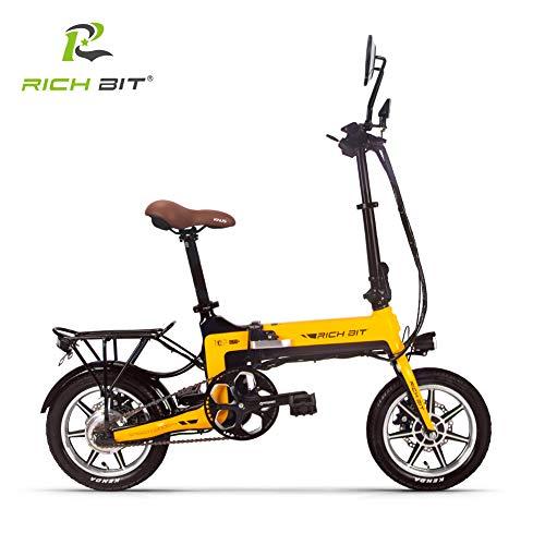 【♪2019新スタートキャンペーン 10倍ポイント還元 ♪】次世代ハイブリッドSmart eBike RICHBIT TOP619,世界最軽量級電動バイク★PL保険加入 (イエロー)
