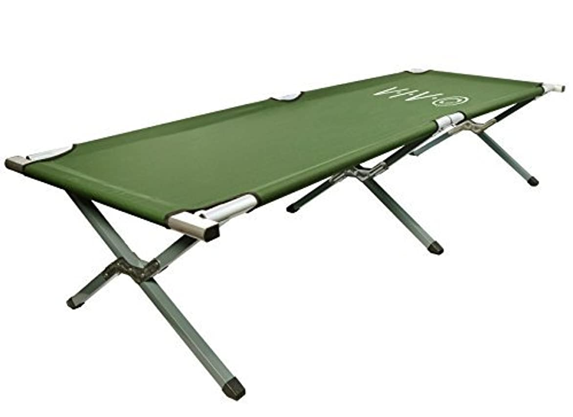 モックアーサーコナンドイルチューリップVIVO Green Camping Cot, Portable Fold up Bed, Military Style Cot, Carrying Bag Included (COT-V01) [並行輸入品]