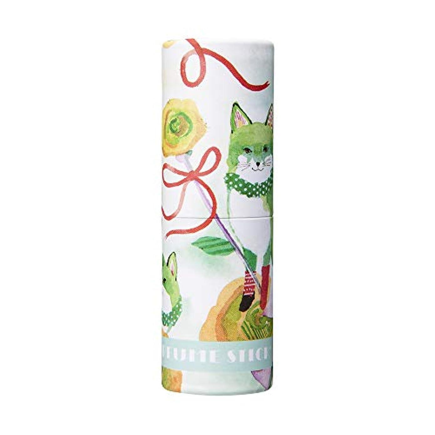 手入れコインランドリー補助パフュームスティック サンクス グリーンアップル&ムスクの香り CatoFriendデザイン 5g