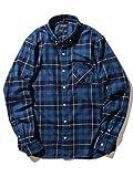 (ビームス) BEAMS/インディゴチェック ミニボタンダウンシャツ 11110931791