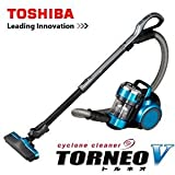 東芝 サイクロン式クリーナー(自走式パワーブラシ)ターコイズブルー【掃除機】TOSHIBA TORNEO V(トルネオV) VC-SG414-L