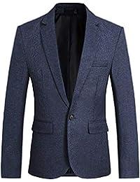 CEEN メンズ スーツジャケット 1つボタン 上着 テーラードジャケット チェック スリム 無地 スタイリッシュ ビジネス/結婚式/パーティー/イベント/演奏会 ジェントルマン ジャケット カジュアル