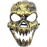 ハロウィーンの新しい火災のユニコーンマスクホラーゴーストフェイスマスクアンティーク牙の頭蓋マスク