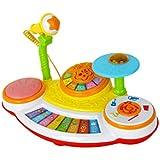 HXGL-ドラム チャイルドビートドラム玩具子供3-6歳ビギナー楽器男の子と女の子はじめに (色 : マルチカラー まるちから゜)