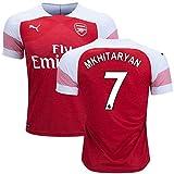 サッカーArsenal(アーセナル)2018-2019ホーム半袖ユニフォーム #7 Henrikh Mkhitaryan