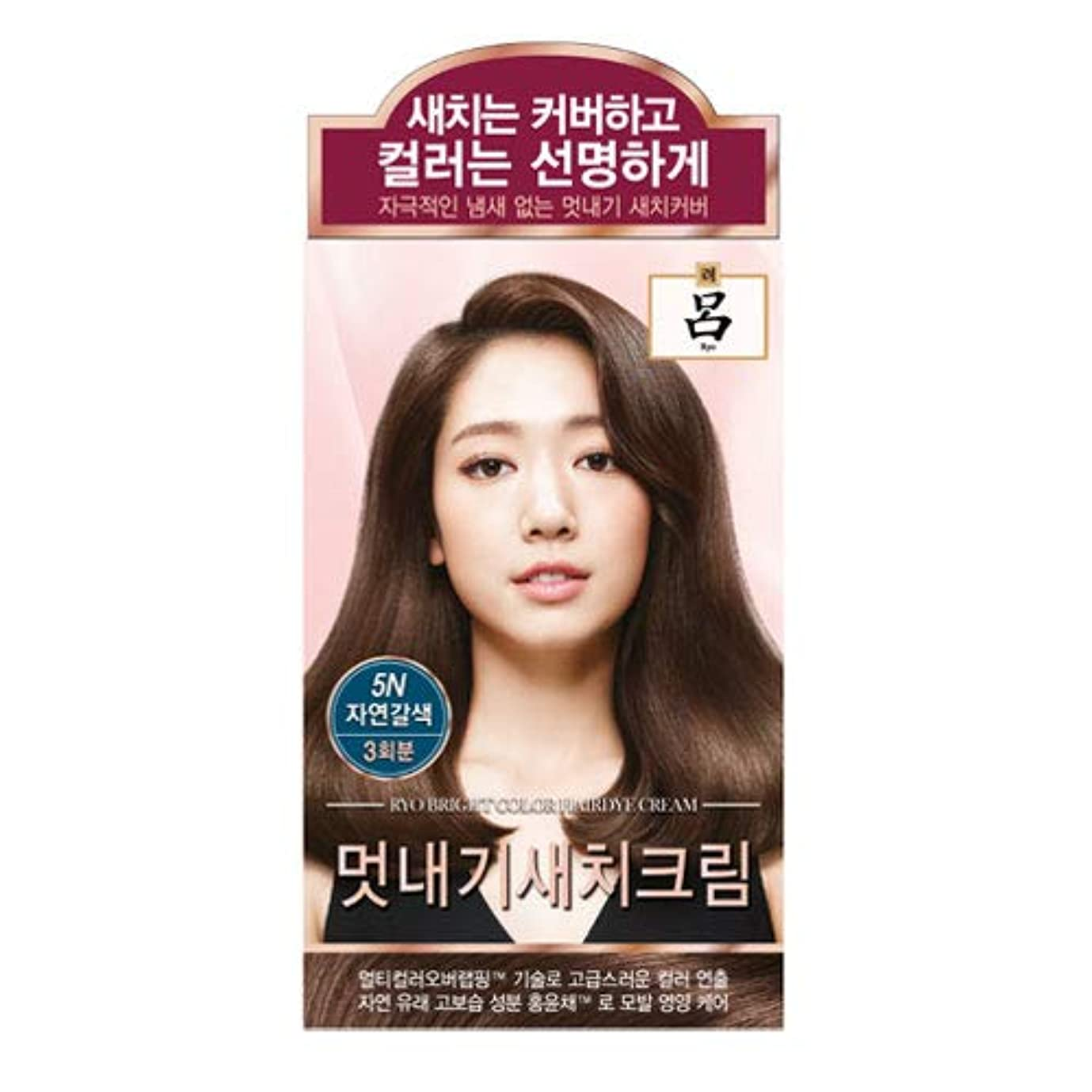 の間で容器遺棄されたアモーレパシフィック呂[AMOREPACIFIC/Ryo] ブライトカラーヘアアイクリーム 5N ナチュラルブラウン/Bright Color Hairdye Cream 5N Natural Brown