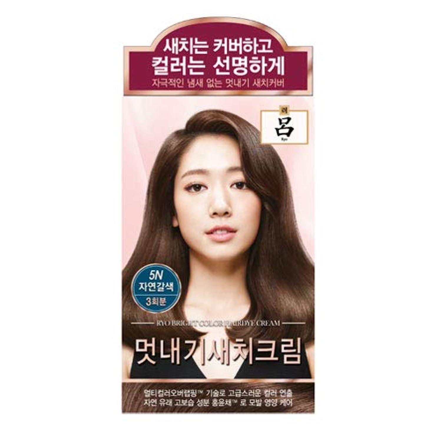 キャプテンヘルシーばかアモーレパシフィック呂[AMOREPACIFIC/Ryo] ブライトカラーヘアアイクリーム 5N ナチュラルブラウン/Bright Color Hairdye Cream 5N Natural Brown