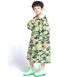 レインコート 子供 男女兼用 新学期用 雨具 背中はランドセル対応 通学 通園用レインコート キッズ 折り畳み可能 迷彩 防水防汚