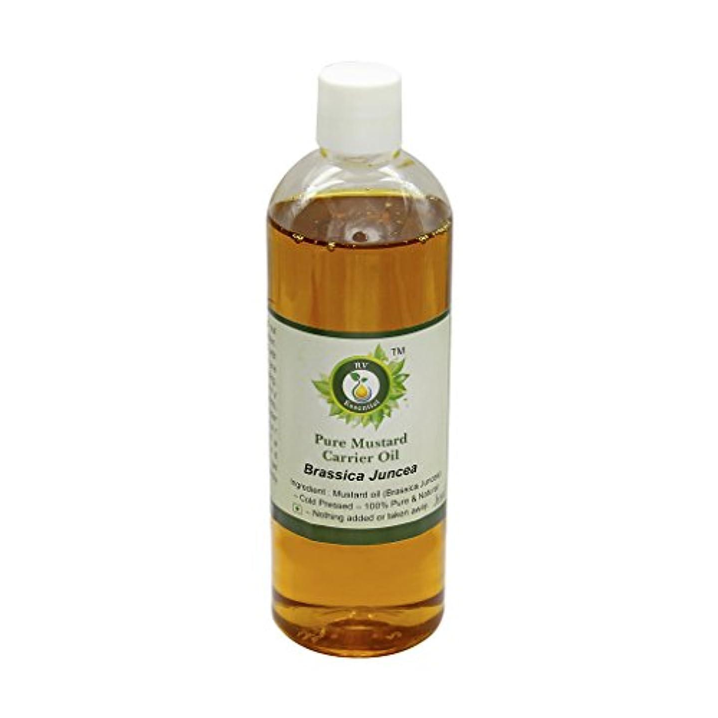 テクニカルスチュワーデス武器R V Essential 純粋なマスタードキャリアオイル100ml (3.38oz)- Brassica Juncea (100%ピュア&ナチュラルコールドPressed) Pure Mustard Carrier Oil