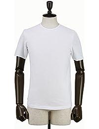 GIRELLI BRUNI ジレッリブルーニ メンズ コットン クルーネック 半袖 Tシャツ F964CO WHITE (ホワイト)