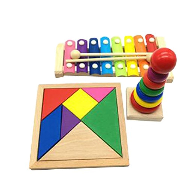 キッドのために3件の新しいスタイリッシュな子供の教育玩具おかしいおもちゃ学習