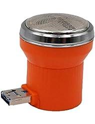旅行用かみそりのためのミニかみそりUSB携帯電話多機能ポータブル電気メンズかみそり(オレンジ)