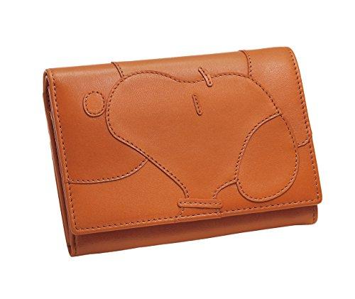 <ほんわかスヌーピー>ナチュラルレザーの2つ折り財布