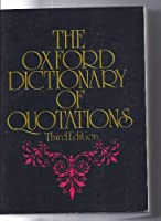 Oxford Dictionary Of Quotations - Third Edition [並行輸入品]