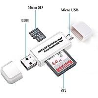 RedCloud カードリーダー SD/Micro SDカード両対応 OTG機能付き Micro USB/USB接続 Windows/Androidスマートフォン・タブレット用(ホワイト)