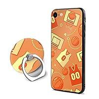 Milicamp Iphone7/8 ケース リング付き 携帯カバー バスケットボール アイフォンケース アイフォンカバー タンド機能 360°回転 スマフォケース 携帯ケース 落下防止 衝撃吸収 アイフォン7/8専用