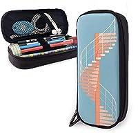 シデコブシ らせん階段 文具バッグ ペンケース 万年筆ケース 筆箱 筆入れ ペンホルダー ペンポーチ 文具ケース 文具ホルダー 大容量 学生 男女兼用