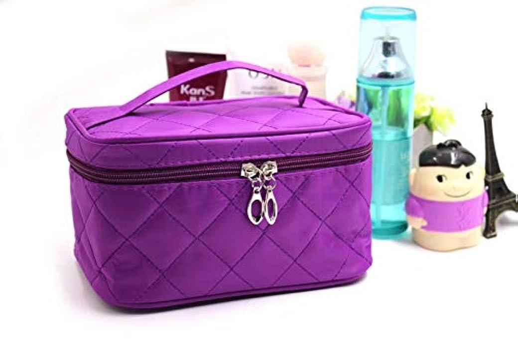 借りている問題バブルLiroyal 化粧ポーチ コスメポーチ メイクポーチ 大容量 バニティポーチ 機能的 紫色