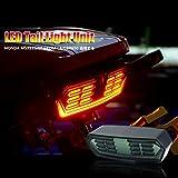 オートバイ用 新型 流れる ウインカー ブレーキランプ/ポジションライト 一体型テールライト ホンダ MSX 125 SF GORM 125 CB..