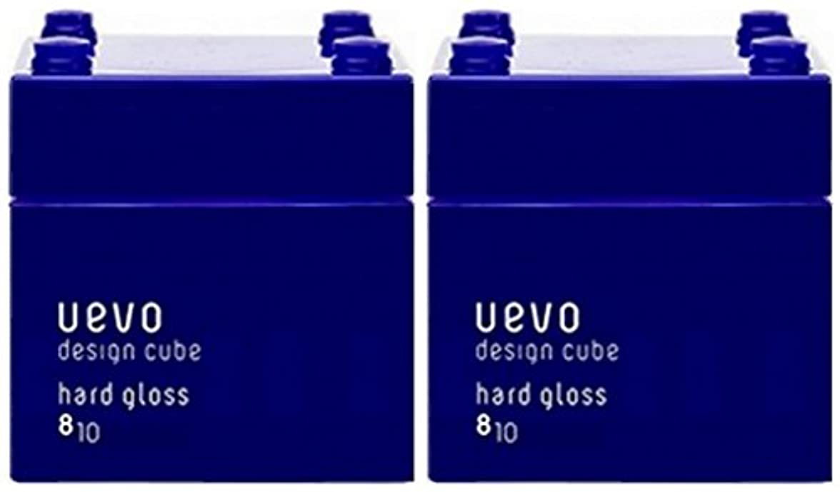 お手伝いさん心から脱走【X2個セット】 デミ ウェーボ デザインキューブ ハードグロス 80g hard gloss DEMI uevo design cube