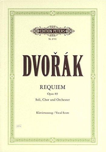 ドヴォルザーク: レクイエム Op.89 (ラテン語)/ペータース社/合唱作品