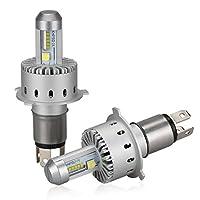 SANYOU 車用LEDヘッドライト LEDバルブ 車検対応 ファン付き 一体型 CREE フィリップス チップ搭載 超高輝度 IP67防水 一年保証