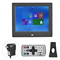 8インチデジタルフォトフレーム、hdと高音質広告ディスプレイ展プロジェクター用映像音楽ビデオプレーヤー、110-240ボルト(AUプラグ)