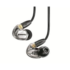 【国内正規品】SHURE カナル型 高遮音性イヤホン SE425 メタリックシルバー SE425-V-J