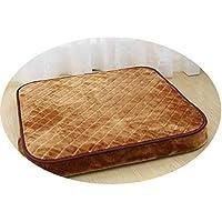 着脱可能なコイアコア綿とリネン布団ラウンド畳のフローティングウィンドウテーブルクッション和風瞑想瞑想パッド,ダークレッドサンゴフリース両面,厚さ40x40cm 10cm