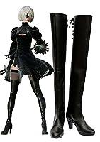 Nier : Automata 2bブーツコスプレ靴ブーツカスタムMade ブラック