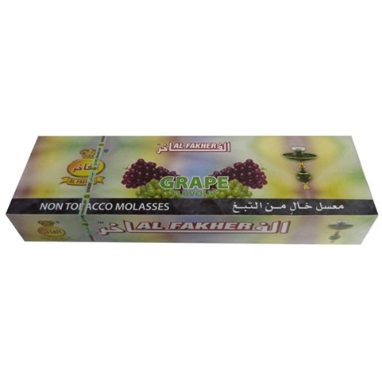 有害光の放つAl Fakher 10パックX 50 GグレープHerbal Shisha Hookah Hooka Huka Sheeshaパイプ
