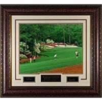 Athlon CTBL-AP9023 Arnold Palmer Unsigned Engraved Collection Masters No.13 Leather Framed with Nicklaus - 28 x 34