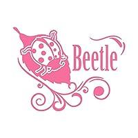 てんとう虫 Beetle ビートル カッティング ステッカー ピンク 桃