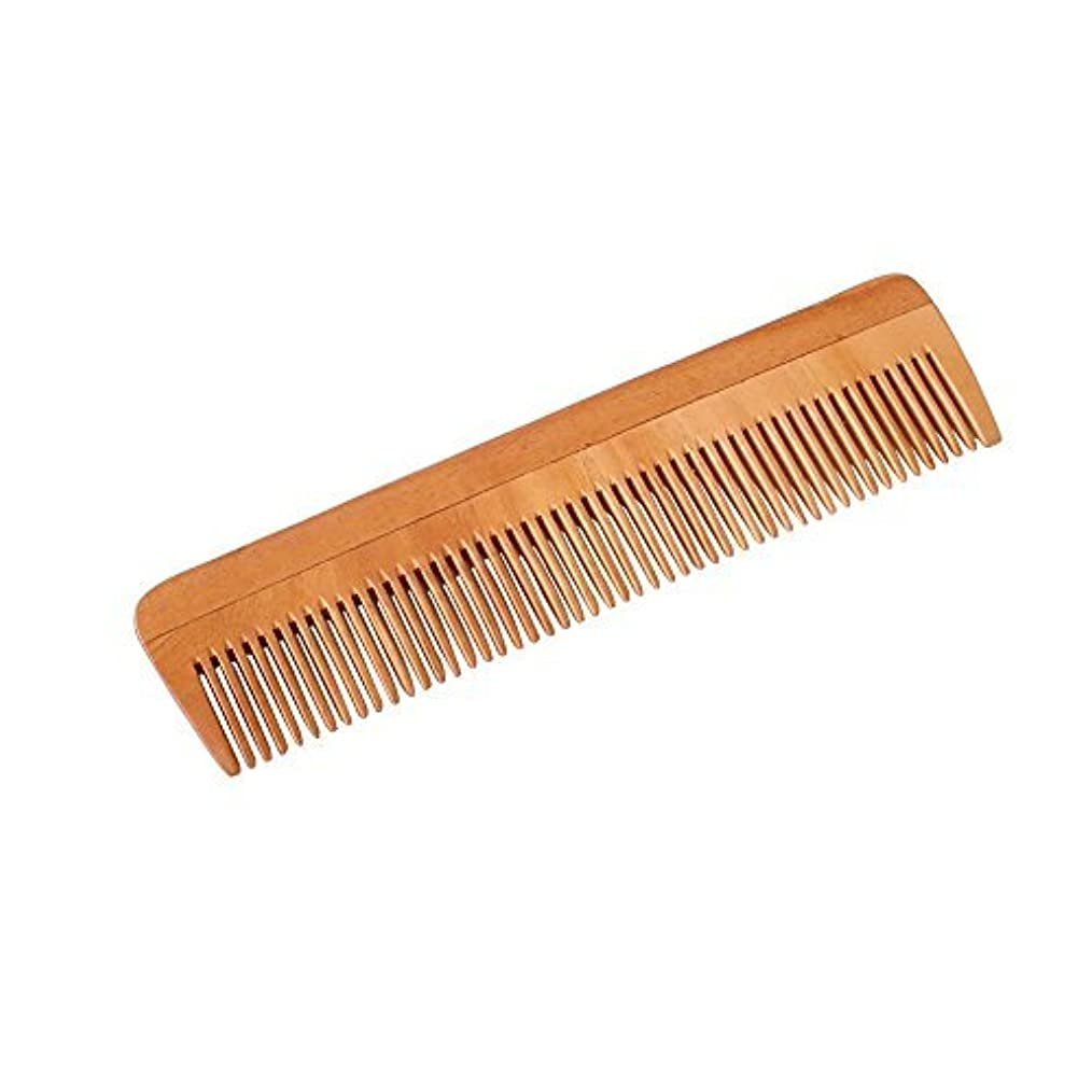 襲撃陪審地平線HealthAndYoga(TM) Handcrafted Neem Wood Comb - Non-Static and Eco-friendly- Great for Scalp and Hair health -7...