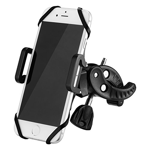YIEASY 自転車ホルダー スマホホルダ 自転車/バイク用スタンド 携帯ホルダー マウントキット クリップ式ホルダー シリコンバンド GPSナビ 360度回転 二重保護 脱落防止 多機種対応