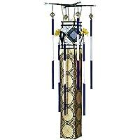 吊提灯 廻転灯 金襴 切子 長さ138cm 電気コード式 日本製 創作提灯 盆提灯 八女提灯
