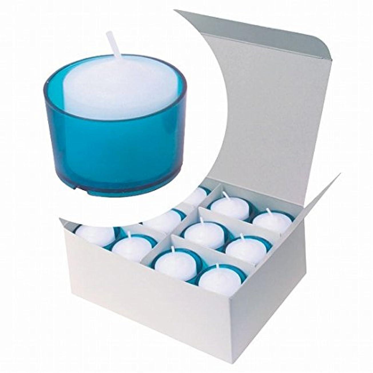 鑑定軽量作るカメヤマキャンドル(kameyama candle) カラークリアカップボーティブ6時間タイプ 24個入り 「 ブルー 」