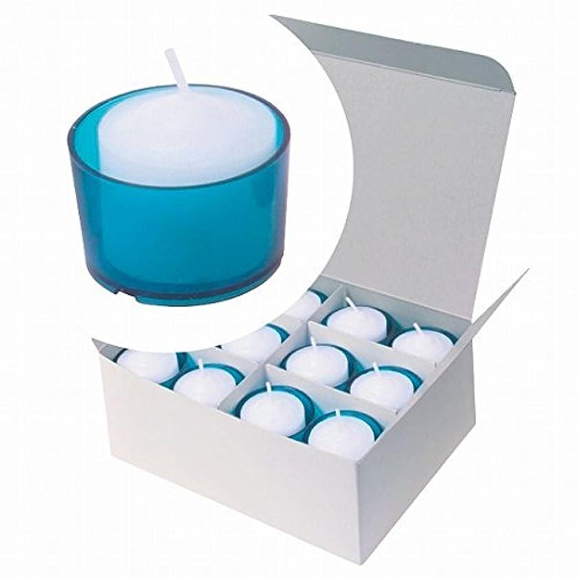 とげのある内陸やさしいカメヤマキャンドル(kameyama candle) カラークリアカップボーティブ6時間タイプ 24個入り 「 ブルー 」