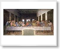 レオナルド・ダ・ヴィンチ 最後の晩餐 【ポスター+フレーム】約 61 x 81 cm ホワイト