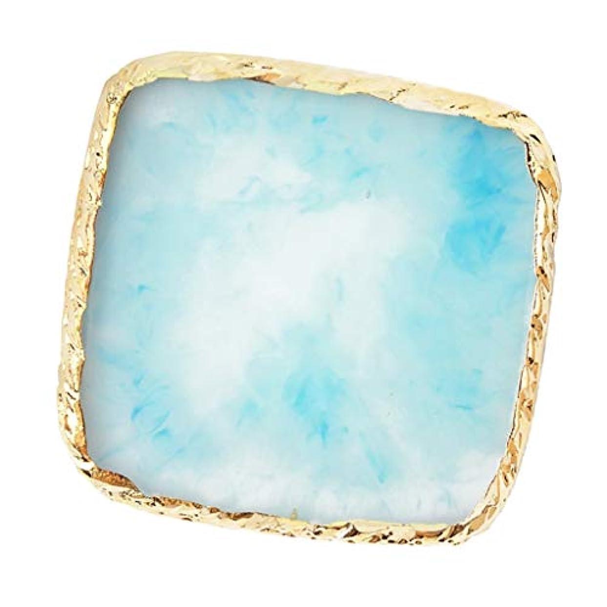 民間助けて上院議員IPOTCH ネイルアート カラーブレンド ミキシングパレット 樹脂製 6色選べ - 青