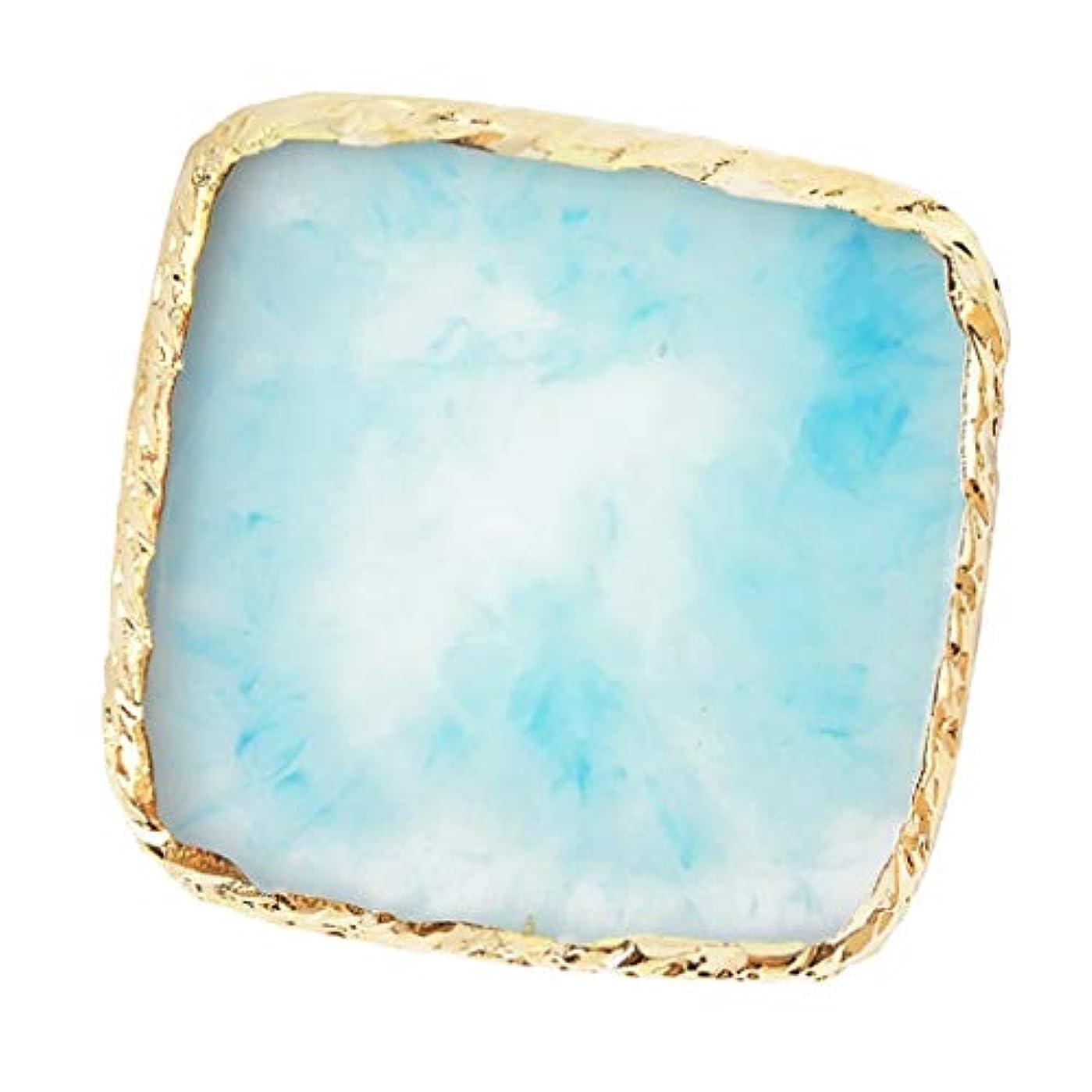 バレーボール検索粘液IPOTCH ネイルアート カラーブレンド ミキシングパレット 樹脂製 6色選べ - 青