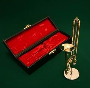 飾り物ミニチュア楽器 トロンボーン 1/6サイズ
