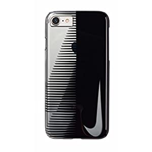 NIKE(ナイキ) トランスペアレント スウッシュ iPhone 8/7 ケース ブラック