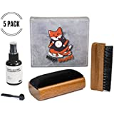 Vinyl Buddy Record Cleaner Kit 5 Piece Ultimate Cleaning System - Velvet Brush - Nylon Fiber Brush - Stylus Brush - Cleaning Liquid - Storage Pouch