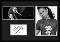 10種類!Alicia Keys/アリシア・キーズ/サインプリント&証明書付きフレーム/BW/モノクロ/ディスプレイ (8-3W) [並行輸入品]