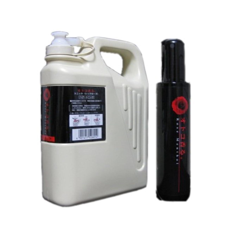遅らせる血生き返らせるクラシエ オトコ香る。フレグランストニック レッドローズ150ml+1050ml Lサイズ(業務・詰替用)セット