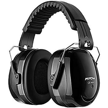 14001a4147e223 MPOW 防音イヤーマフ 遮音ヘッドホン 遮音値34dB 超弾力性ヘッドバンド ANSI S3.19&CE EN352-1認証済み 聴覚保護 騒音対策  ブラック